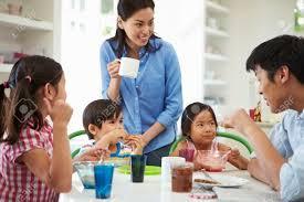 Family Kitchen Family Kitchen Asian Stock Photos Images Royalty Free Family