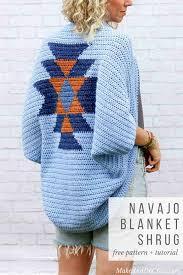 Crochet Shrug Pattern Stunning Navajo Blanket Free Crochet Shrug Pattern Make Do Crew