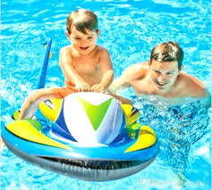 pool water with float. Water Float Mat Pool Jet Ski Boat Inflatable Children Rafts Summer With