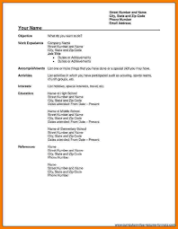 7 Free Fillable Resume Templates Professional Resume List