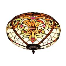 Fancy lighting Modern Arabic Vintage Baroque Tiffany Style Flush Mount Ceiling Light With Fancy Pattern Shade Bowl Shade Facebook Vintage Baroque Tiffany Style Flush Mount Ceiling Light With Fancy