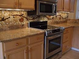 Floors Maple Cabinets Baltic Brown Granite With Tile Backsplash