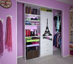 bedroom closet organization 2. Furniture. White Wooden Shelves Beside Storage Also Hanging Clothes Placed On The Purple Closet Bedroom Organization 2 I