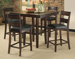 Dining Room : Dark Brown Oak Of Counter Height Dining Room Sets ...