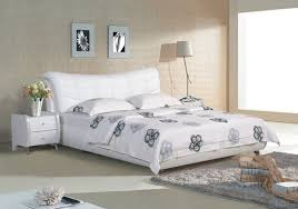 contemporary leather bedroom furniture. Plaid White Contemporary Modern Leather Bed King Size Bedroom Furniture Made In China