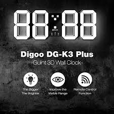 <b>3D LED Digital Wall Clock</b>,DIGOO Plus Multifunction <b>Digital</b> Alarm ...