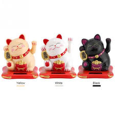 New Fashion New Solar Powered <b>Cute</b> Hands Shaking <b>Fortune Cat</b> ...