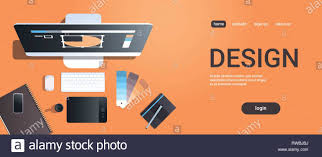 Graphic Designer Stuff Graphic Designer Creative Workplace Design Studio Concept