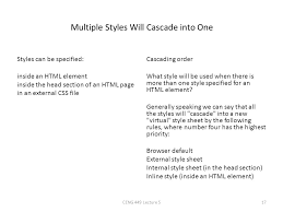 cascade style sheet css css stands for cascading style sheets styles define how to