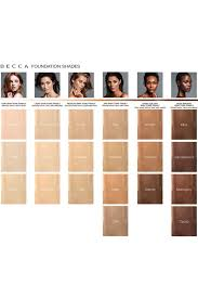 Skin Color Makeup Chart Becca Foundation Color Chart Makeup Looks In 2018 In 2019
