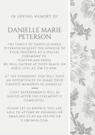funeral reception invitation exle 6