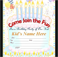 Online Printable Birthday Party Invitations Kids Birthday Invitation Template