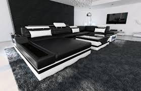 Luxury Sectional Sofa Orlando U Shape With Led Genuine