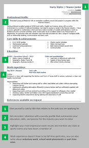 Tips To Writing A Good Resumes Cv Template School Leaver Resume Examples Good Resume