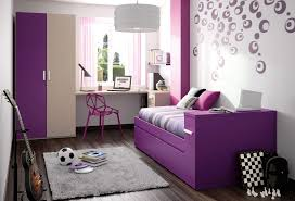 interior comely teenage girl bedroom ideas with white rugs also purple wall decals on dark