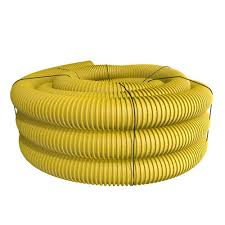corrugated yellow solid drain pipe model number 040100ynp menards sku 6893914