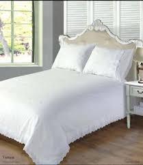 white luxury bedding. Perfect White Image Is Loading WhiteLuxuryBeddingSetPlainFrillQuiltCover Intended White Luxury Bedding L