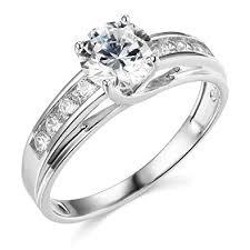 TWJC <b>14k</b> Yellow OR <b>White Gold Solid</b> Wedding Engagement Ring ...