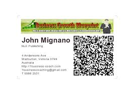 Qr Code Business Cards Business Coach Mobile Marketing