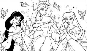 Small Picture Beautiful Disney Princess Coloring Pages Games Images New