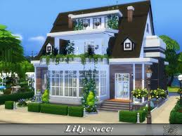 Small Picture The Sims Resource Lily house by Danuta720 Sims 4 Downloads