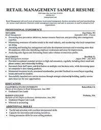 Retail Management Resume Template Unique Resumes Grocery Store