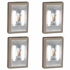 Promier LED Wireless Light Switch, Under Cabinet, RV, Kitchen, Night Light,  Counter, Or Boat Lighting, 4 Pack, Battery Operated     Amazon.com