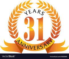Anniversary Ribbon 31 Years Ribbon Anniversary Royalty Free Vector Image