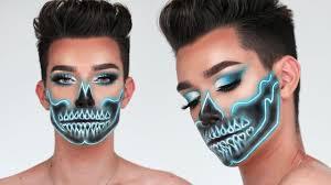 neon skull makeup tutorial