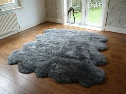 grey costco sheepskin rug