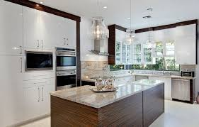 River Gold Granite Contemporary Kitchen Miami by Marble of