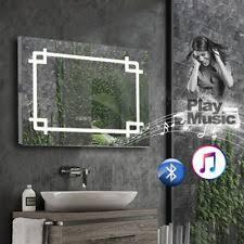 bathroom mirrors with lights. Bathroom Mirror With LED Lights/Bluetooth /Shaver Socket/Demister/Clock/Sensor Mirrors Lights