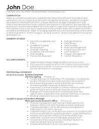 Resume Templates Executive Professional Education Administration Executive Templates To 7