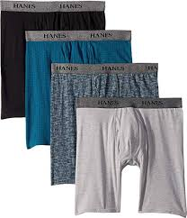 Hanes Mens 4 Pack Stretch Long Leg Boxer Briefs At Amazon