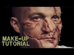 video frankenstein leatherface zombie prosthetic fx makeup tutorial play