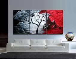 100 contemporary abstract art oil painting red tree