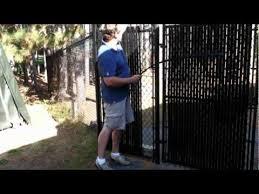 Image Fence Gate Youtube How To Install Chain Link Privacy Slats Wwwjustslatscom