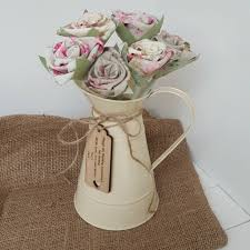 fl linen anniversary flowers in jug and
