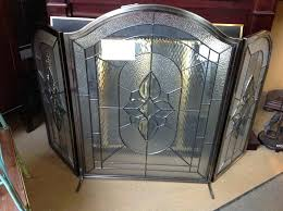stained glass fireplace screen frame uk designs intriguing canada