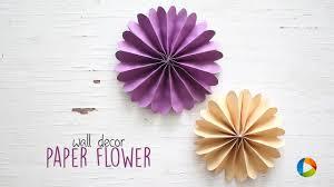 diy wall decor paper. DIY Wall Decor Paper Flowers Diy