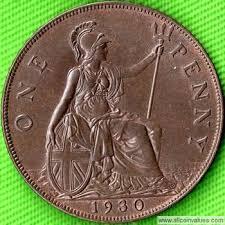 1930 Uk Penny Value George V