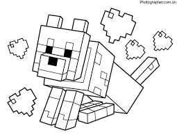 Tổng hợp các bức tranh tô màu Minecraft cực đáng yêu dành tặng cho bé