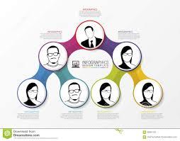 Modern Org Chart Modern Organization Chart Template Vector Stock Vector