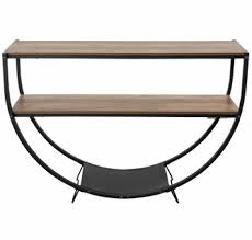 Bernetta Brown Wood/Metal Console Table by ClioCasa