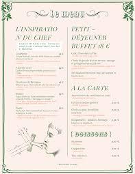 A La Carte Menu Template Menu Design Samples From Imenupro More Than Just Templates