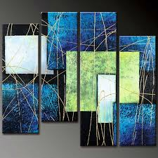 >large 4 piece canvas wall art sets for sale abstract lines