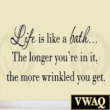 life is like a bath wall decal bathroom wall es sayings vinyl wall art ho