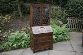 a jaycee carved oak bureau bookcase shelves display cabinet desk