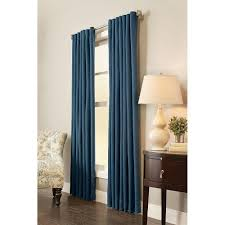 semi opaque indigo room darkening back tab curtain 54 in w x 84