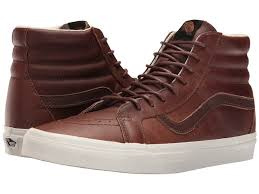 mens vans sk8 hi reissue leather trainers 207238 6298 dachshund potting soil